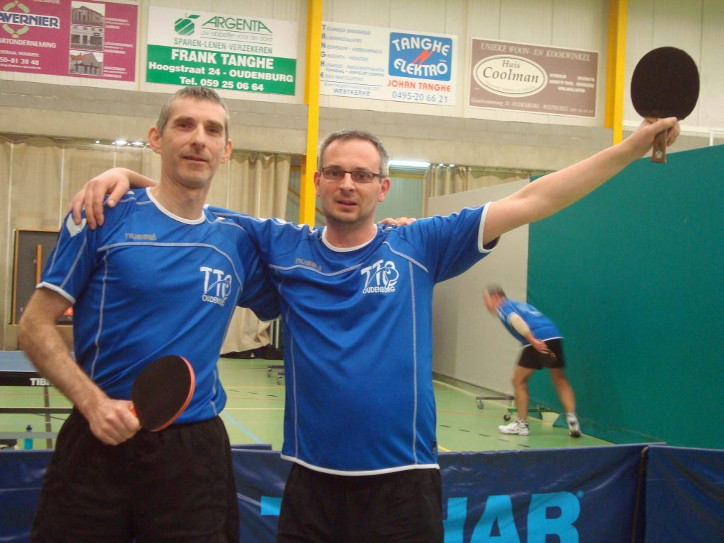 Jerry en Bart clubkampioen dubbel 2016